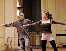 Channing Tatum and wife Jenna Dewan Tatum in the Step Up movie