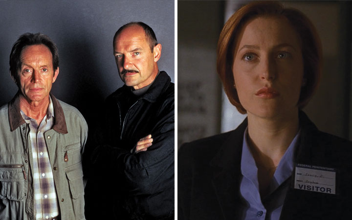 Millennium (left) and The X-Files