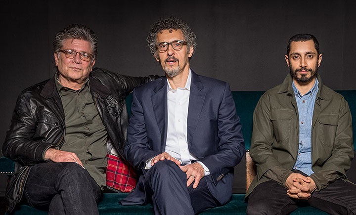 From left: Steve Zaillian, John Turturro and Riz Ahmed