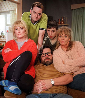 Aherne (left) starred in The Royle Family, which she wrote and created alongside co-star Craig Cash