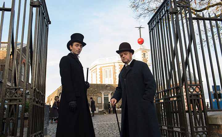 David Dawson as Vladimir and Toby Jones as Verloc