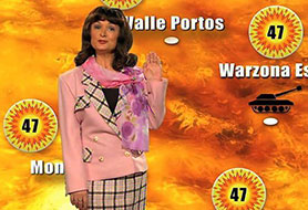 The late writer and actor also played a weather presenter in The Fast Show's 'Channel 9' sketch