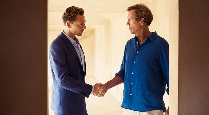 Hugh Laurie (right) tried to buy the rights to The Night Manager years before it came to TV