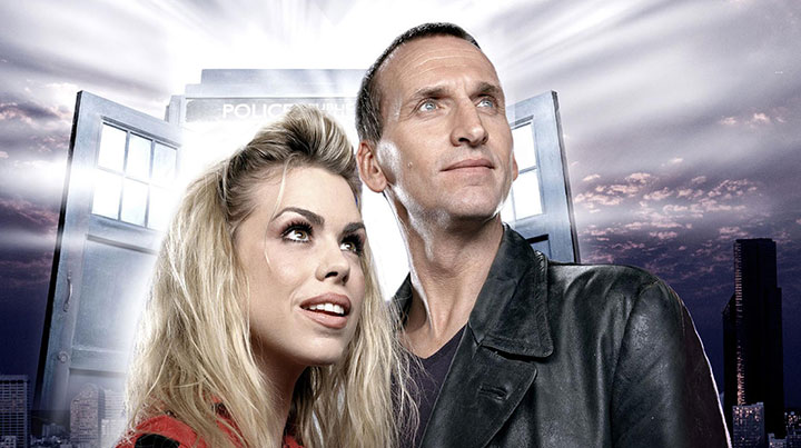 Christopher Eccleston alongside Billie Piper in Doctor Who