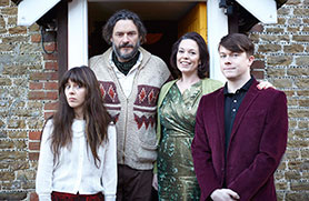 Flowers stars Julian Barratt and Olivia Colman (centre)