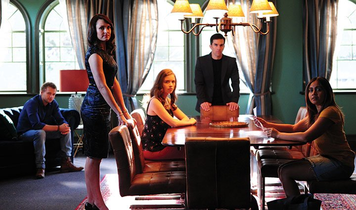 From left: Matt Levett, Rachel Gordon, Jordan Hare, Jared Turner and Jessica Mauboy