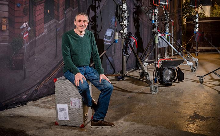 Cold Feet creator Mike Bullen on set