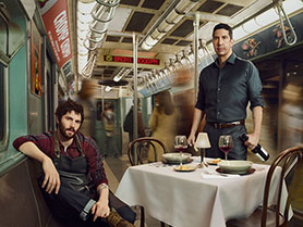 Jim Sturgess (left) and David Schwimmer in Feed the Beast