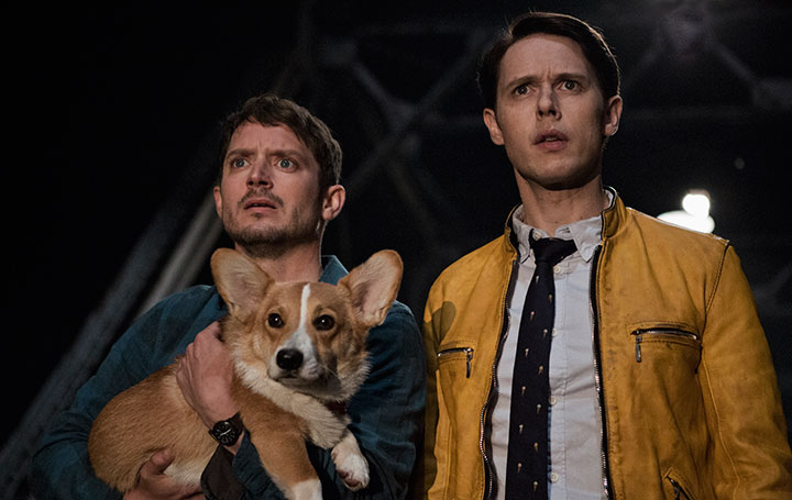 The series stars Elijah Wood (left) and