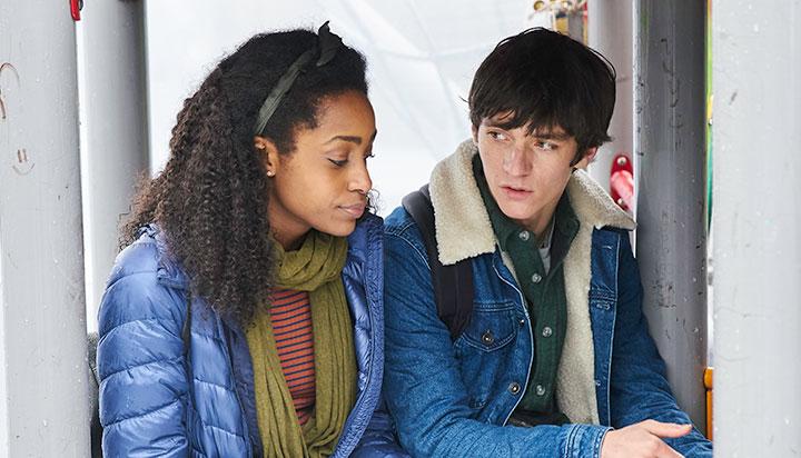 Simona Dawson plays HIM's step-sister Faith