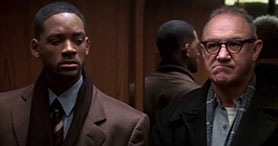Will Smith and Gene Hackman in the Enemy of the State film