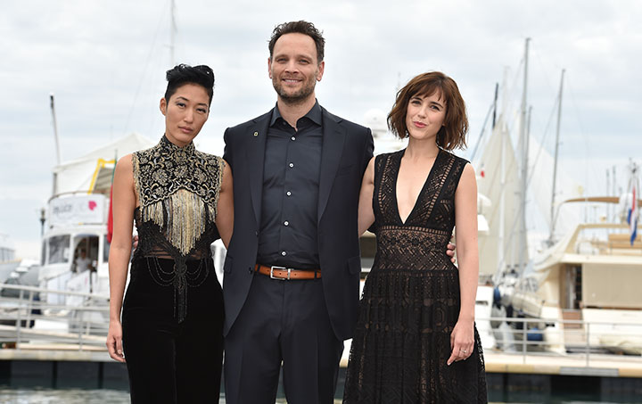 Left to right: Stars Jihae, Ben Cotton and Clementine Poidatz at Mipcom last month