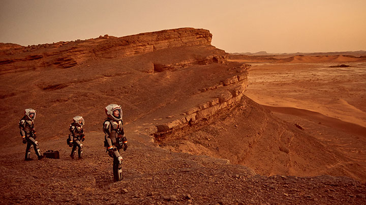 The Moroccan desert doubled as the Red Planet