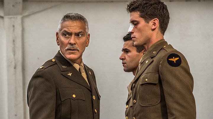 """55ab95842 George Clooney in Catch-22, for which he directed episodes and also exec  produced. """""""
